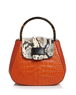 Nico Giani - Myria Mini Croc-Embossed Satchel