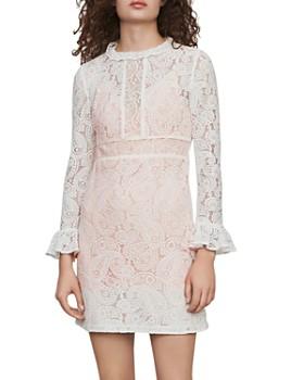 Maje - Riline Guipure-Lace Mini Dress