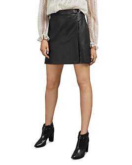 Ted Baker - Lyley Faux Leather Mini Skirt