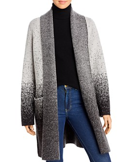 Donna Karan - Ombré Flyaway Sweater Coat