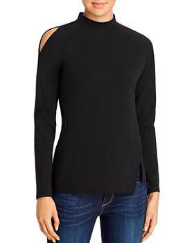 Donna Karan - Asymmetrical Mock Neck Top