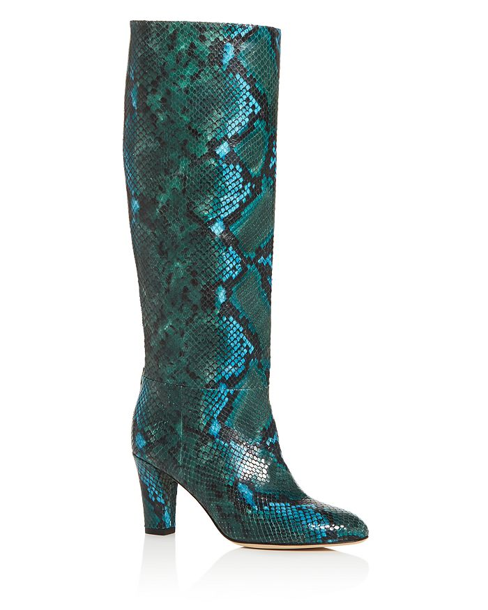 SJP by Sarah Jessica Parker - Women's Rayna Snake-Embossed High-Heel Boots - 100% Exclusive