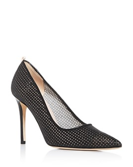 SJP by Sarah Jessica Parker - Women's Fawn Fishnet Pointed-Toe Pumps