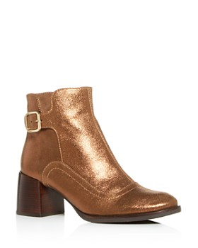 Chie Mihara - Women's Or-Omayo Block-Heel Booties