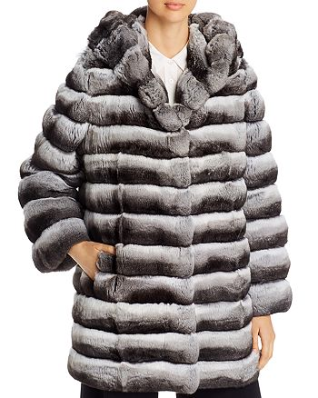 Maximilian Furs - Chinchilla Hooded Jacket - 100% Exclusive