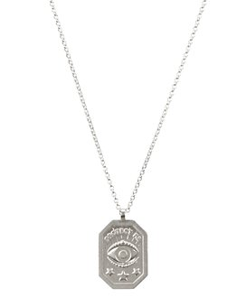 """Dogeared - Protect Me, Evil Eye Tablet Necklace, 18"""""""