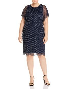 Adrianna Papell Plus - Beaded Dolman-Sleeve Dress