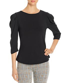 Lyssé - Wythe Mixed-Media Puff-Sleeve Top