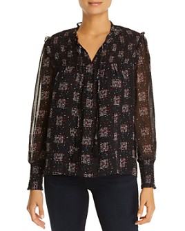 Daniel Rainn - Smocked Printed Top