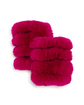 Surell - Girls' Rabbit Fur Texting Gloves - 100% Exclusive