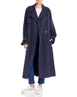 See by Chloé - Double-Breasted Long Trench Coat