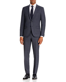 HUGO - Small Plaid Regular Fit Suit Separates