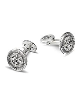 David Yurman - Sterling Silver Maritime Compass Cufflinks with Black Diamonds