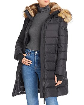 AQUA - Faux Fur-Trim Hooded Puffer Coat - 100% Exclusive