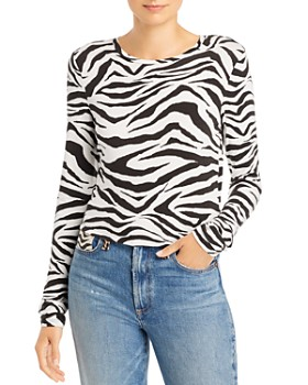 Alice and Olivia - Delaina Tiger Print Cropped Top