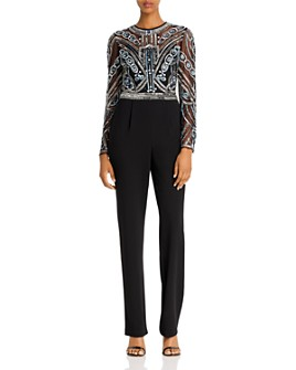 Aidan Mattox - Beaded and Sequined Jumpsuit