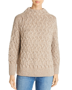 Lafayette 148 Knits CASHMERE CABLE KNIT SWEATER