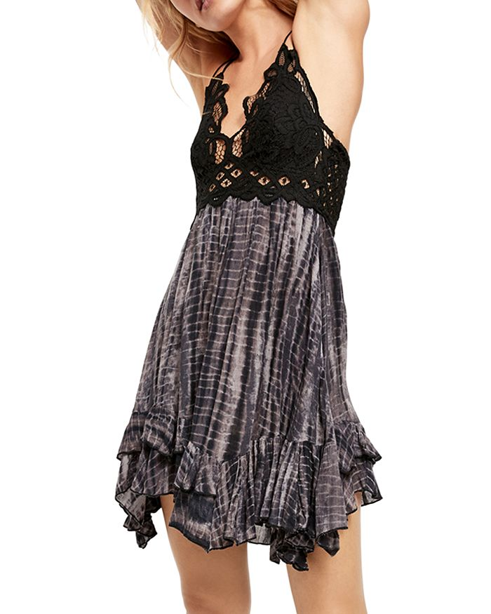 Free People - Adella Lace-Trim Tie-Dye Dress