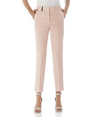 Peserico Cropped Cotton Stretch Pants-Women