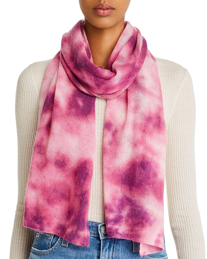 AQUA - Tie-Dye Cashmere Scarf - 100% Exclusive