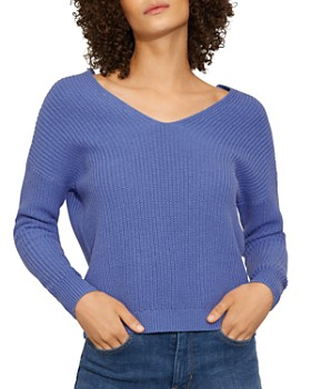 KAREN MILLEN - Lace-Up Back Cropped Sweater
