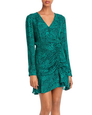 Parker - Nelly Leopard Print Ruched Mini Dress - 100% Exclusive