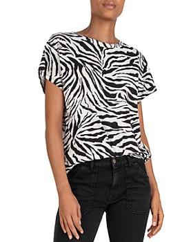 ba&sh - Wala Zebra Print Tee