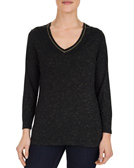Gerard Darel - Eymeric Metallic-Threaded Jersey Top