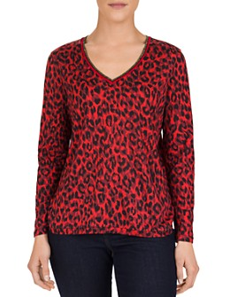 Gerard Darel - Elyse Abstract Leopard-Print Top