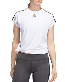 Adidas - Triple Stripe Tie-Hem Tee