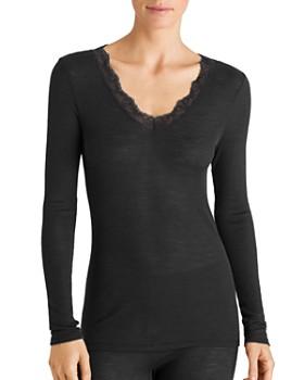 Hanro - Woolen Lace-Trim Shirt