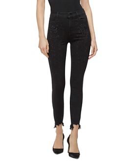 J Brand - Alana High-Rise Crop Jeans in Black Adorned