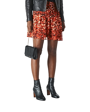 Whistles Ikat Ruched Mini Skirt