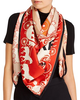 Burberry - Carriages Print Silk Scarf