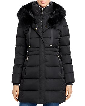 T Tahari - Stephanie Faux Fur-Trim Puffer Coat