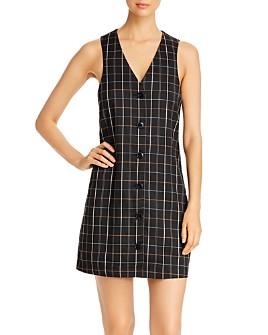 Vero Moda - Carnie Plaid Sleeveless Mini Dress