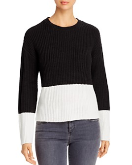 Vero Moda - Glendora Color-Blocked Ribbed Sweater