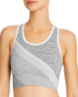LNDR - Comet Metallic-Stripe Sports Bra