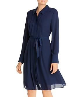 nanette Nanette Lepore - Belted Pintuck Shirtdress