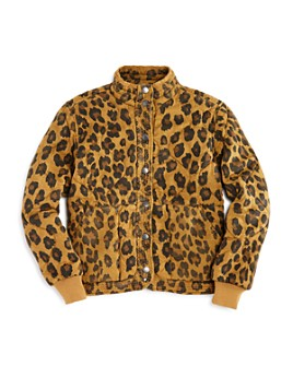 BLANKNYC - Girls' Quilted Leopard Print Jacket - Big Kid
