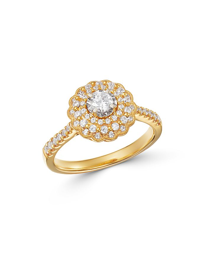 Bloomingdale's - Diamond Milgrain Engagement Ring in 14K Yellow Gold, 0.60 ct. t.w. - 100% Exclusive