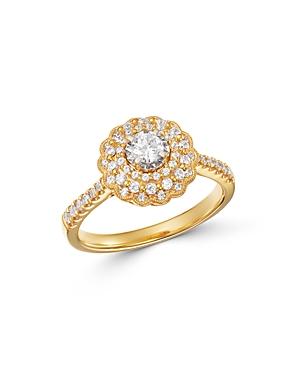 Bloomingdale's Diamond Milgrain Engagement Ring in 14K Yellow Gold, 0.60 ct. t.w. - 100% Exclusive