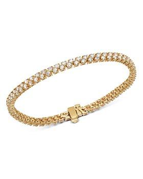 Bloomingdale's - Diamond Double-Row Tennis Bracelet in 14K Yellow Gold, 3.50 ct. t.w. - 100% Exclusive