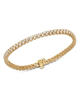Bloomingdale's - Diamond Double-Row Tennis Bracelet in 14K Yellow Gold, 3.50 ct. t.w. - 100% Exclusive