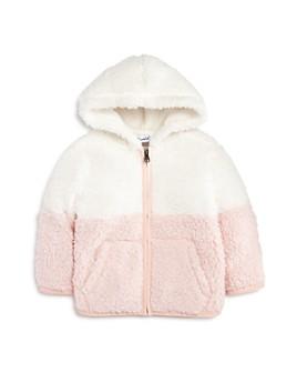 Splendid - Girls' Color-Block Sherpa Hoodie - Baby