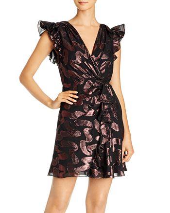 Rebecca Taylor - Ruffled Cap Sleeve Jacquard Dress