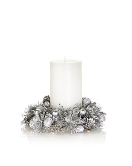 "Salzburg Creations - 4"" Frosted Pearl Candle Ring"