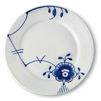 "Royal Copenhagen - ""Blue Fluted Mega"" Salad Plate #6"