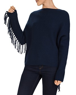 Gerard Darel - Sahel Ribbed Fringed Cashmere Sweater