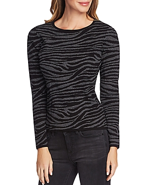 Vince Camuto Zebra Jacquard Knit Sweater - 100% Exclusive